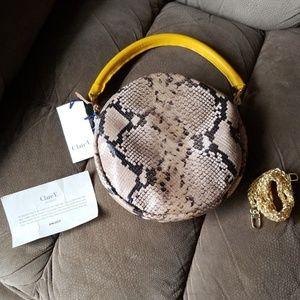 Clare V. NWT Circle Clutch in Cortado Spring Snake